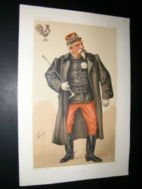 Vanity Fair Print 1884 H. R. H. The Duc D' Aumale, Royal